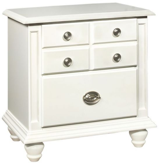 Bob's Nightstand Dovetailed Drawers in White