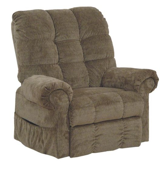 Omni Power Lift Full Lay-Out Chaise Recliner in Thistle