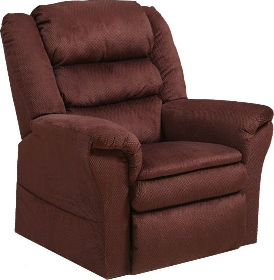 Preston Power Lift Recliner with Pillowtop Seat in Berry