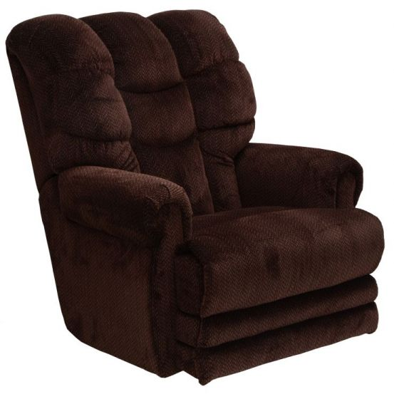 Malone Power Lay Flat Recliner with Extended Ottoman in Vino