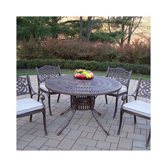 Sunray Mississippi Cast Aluminum 5 Piece Dining Set