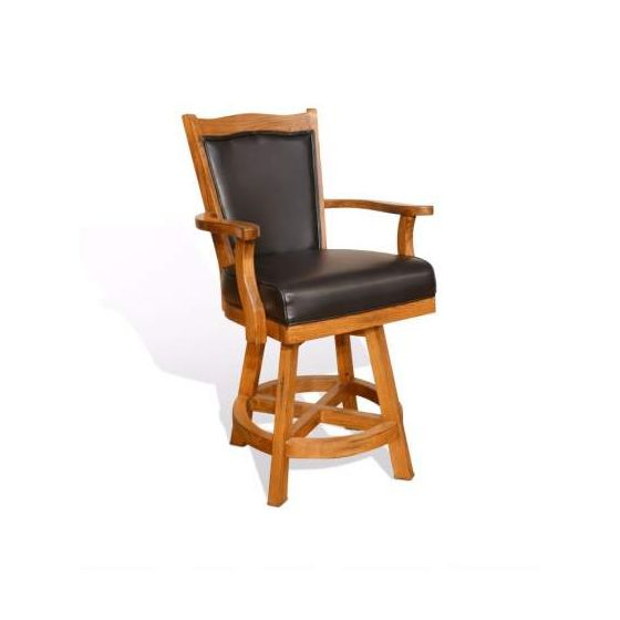 "24"" Barstool with Swivel, Cushion Seat and Back"