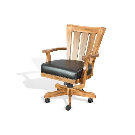 Game Chair with Casters, Cushion Seat
