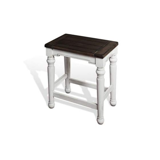 """Backless Stool with Wood Seat, 24""""H"""