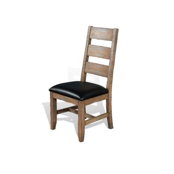 Ladderback Chair with Cushion Seat