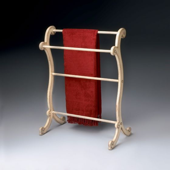Brittany Parchment Blanket Rack
