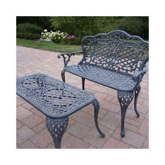 Mississippi Loveseat Settee Bench & Cocktail Table Set