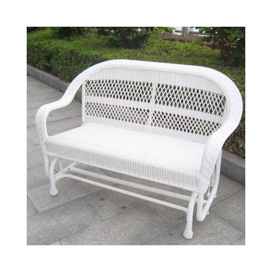 Coventry Wicker Glider in White
