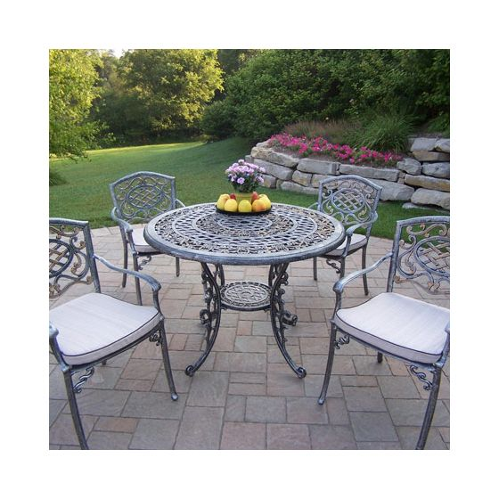 Mississippi Cast Aluminum 5 Piece Dining Set W/ Chair