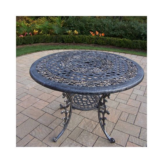 Mississippi Cast Aluminum 42-Inch Round Dining Table