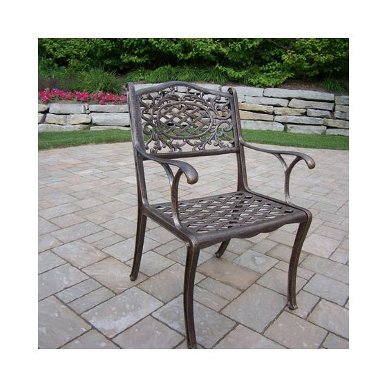 Mississippi Cast Aluminum Arm Chair in Antique Bronze