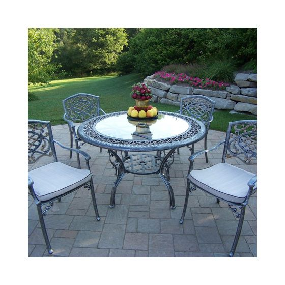 Mississippi Cast Aluminum 5 Piece Dining Set