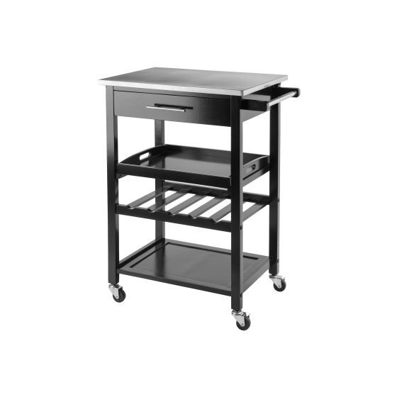 Anthony Kitchen Cart in Stainless Steel