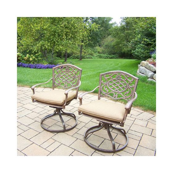 Mississippi Pair Swivel Rockers With Cushions (Set 2)