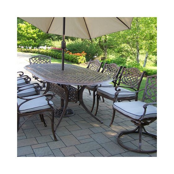 Mississippi Cast Aluminum 11 Piece Dining Set