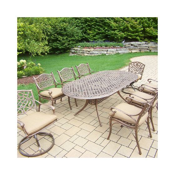 Mississippi Oval 9 Piece Dining Set, 2 Reg & 2 Swivel Chair