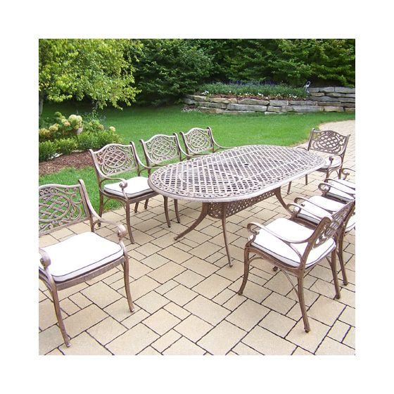 Mississippi Oval 9 Piece Dining Set, 8 Durable Arm Chair