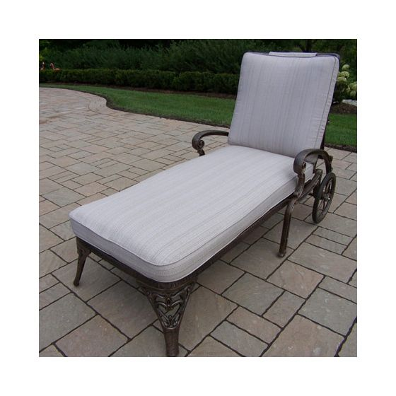 Mississippi  Chaise Lounge On Wheels With Double Cushions
