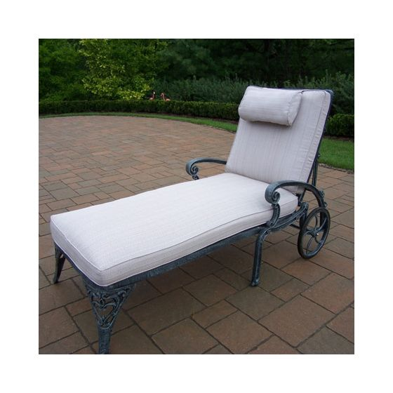Mississippi  Chaise Lounge On Wheels With Double Cushion