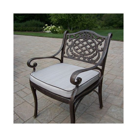 Mississippi Cast Aluminum Arm Chair With Cushion