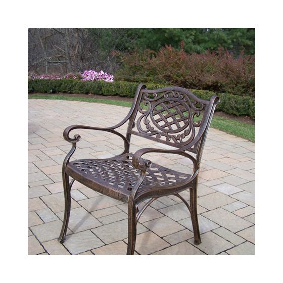 Mississippi Arm Chair in Antique Bronze