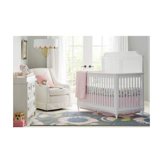 Clementine Court Built To Grow Crib in Frosting