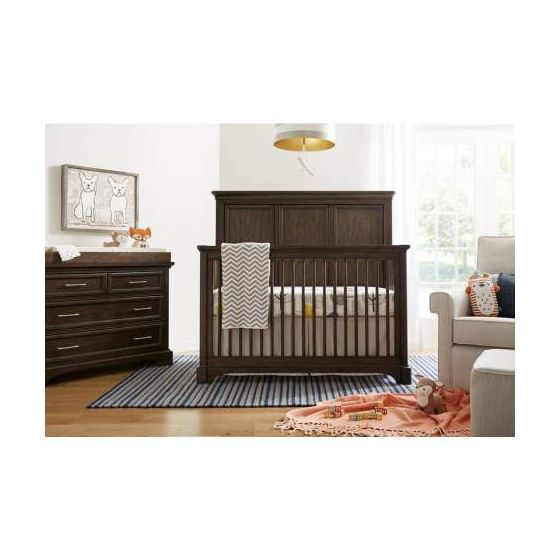 Chelsea Square Built To Grow Crib in Brown