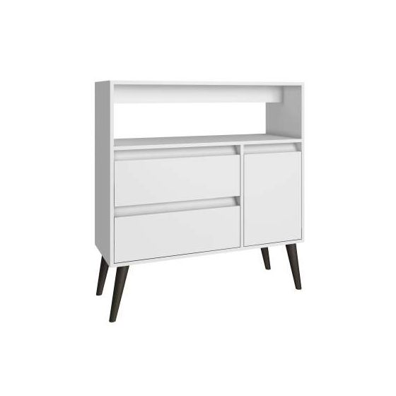 Functional Gota High Side Table, 1 Shelf, 2 Drawers & 1 Door