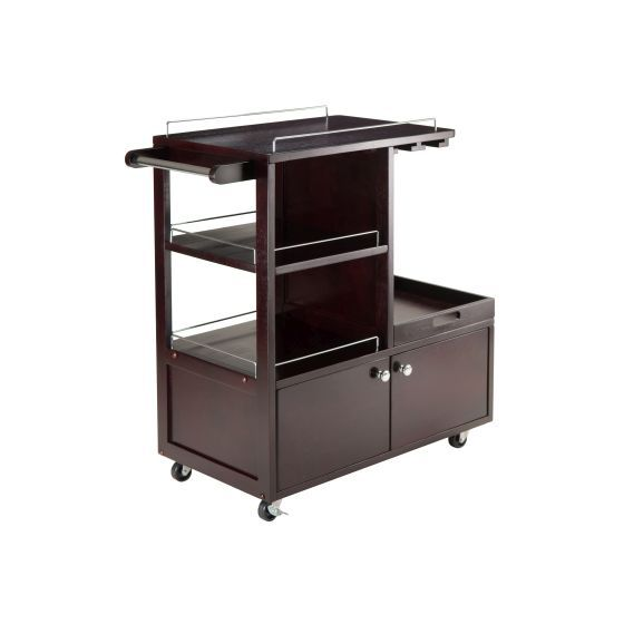Galen Serving Cart in Espresso