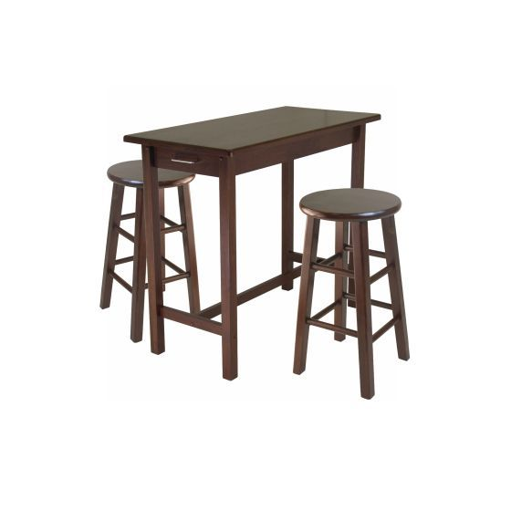 Sally 3 Piece Breakfast Table Set with 2 Square Leg Stools