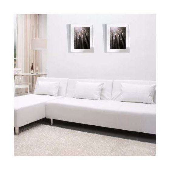 Atlanta Convertible Sectional Sofa Bed in White