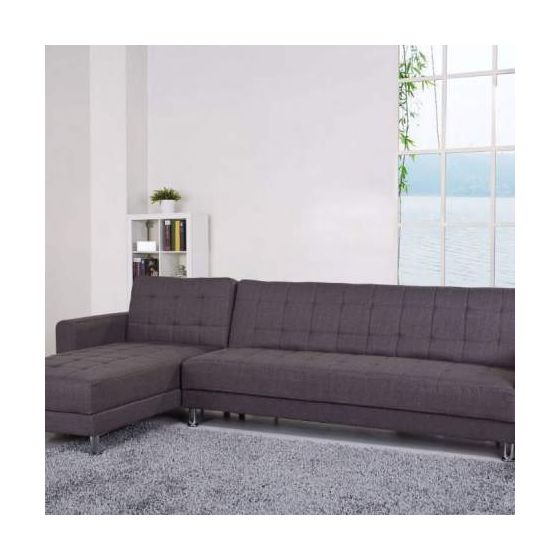 Frankfort Convertible Sectional Sofa Bed in Gray