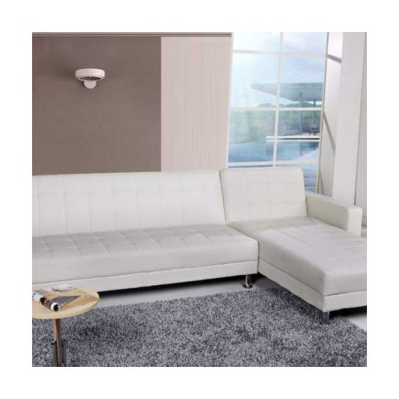 Frankfort Convertible Sectional Sofa Bed in White