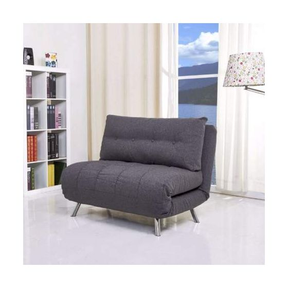 Tampa Convertible Big Chair Bed in Gray