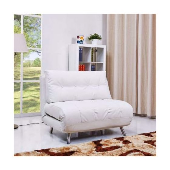 Tampa Convertible Big Chair Bed in White