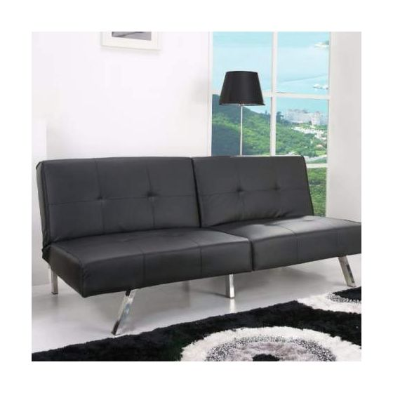 Victorville Foldable Futon Sofa Bed in Black