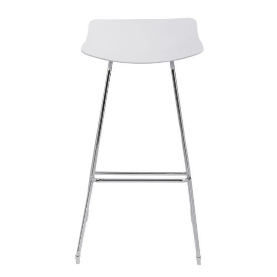 Neo 30'' Barstool No Back in White