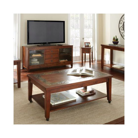 Davenport Chairside End Table in Brown