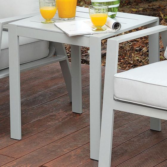 Arsey Aluminum Frame Outdoor Patio End Table