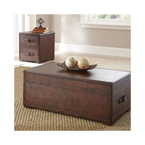Jayden Faux Leather End Table