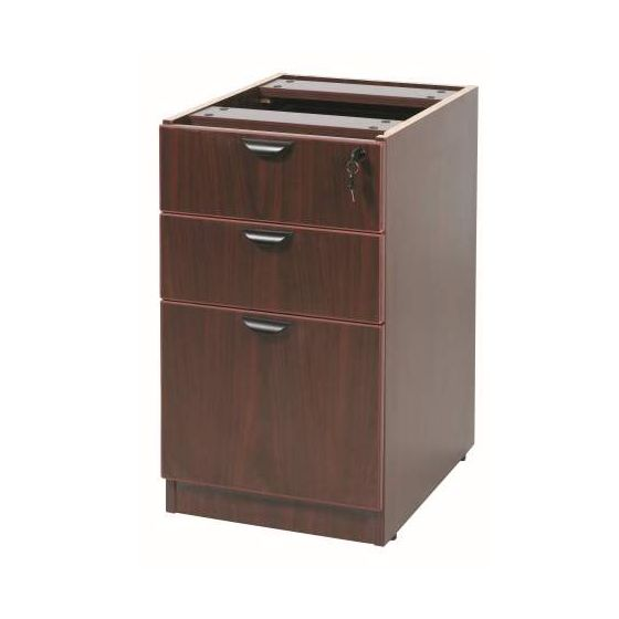 3 Drawer Deluxe Pedestal in Mahogany