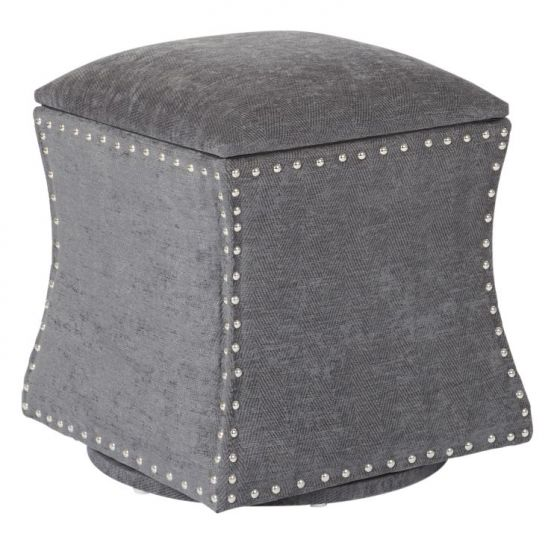 St. James Swivel Ottoman in Charcoal