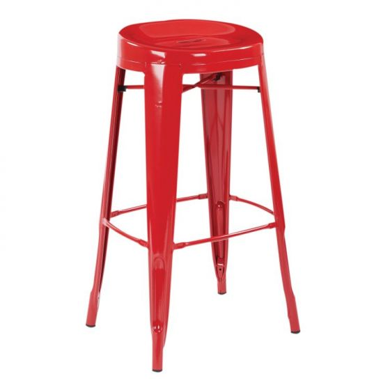 Stockton 30'' Barstool in Red(Set of 2)