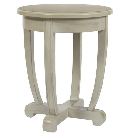 Tifton Round Accent Table in Grey