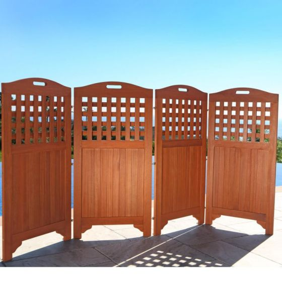 Malibu 46'' Outdoor Privacy Screen with 4 Panels