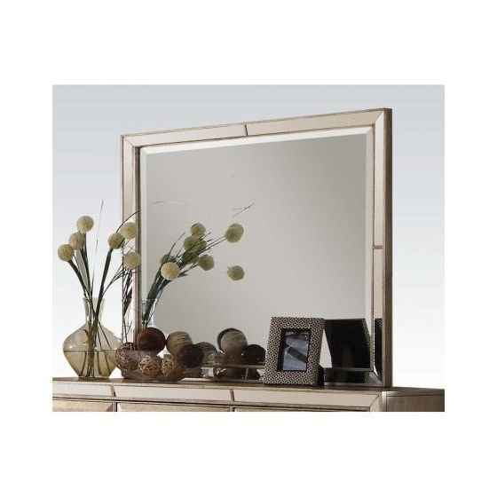 Voeville Mirror in Antique Gold