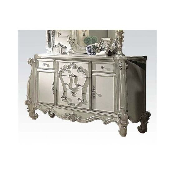 Versailles Bone White 5-Drawer 2-Door Dresser