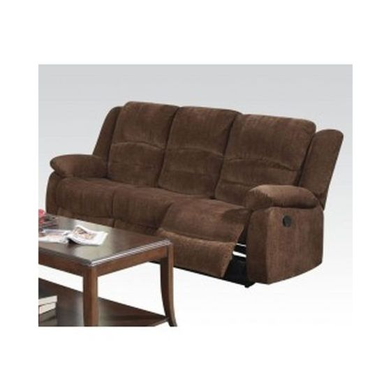 Bailey Sofa (Motion) in Dark Brown Chenille