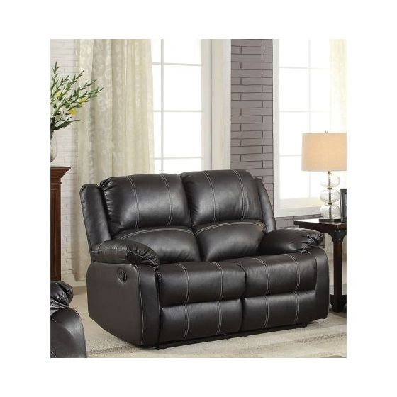 Zuriel Ashley Loveseat Motion in Black PU