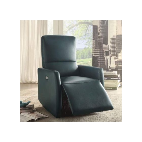 Raff Power Motion Recliner with Blue Finish